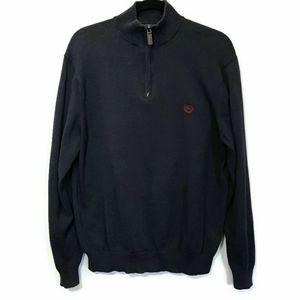 Chaps Ralph Lauren Quarter Zip Mens Cotton Sweater